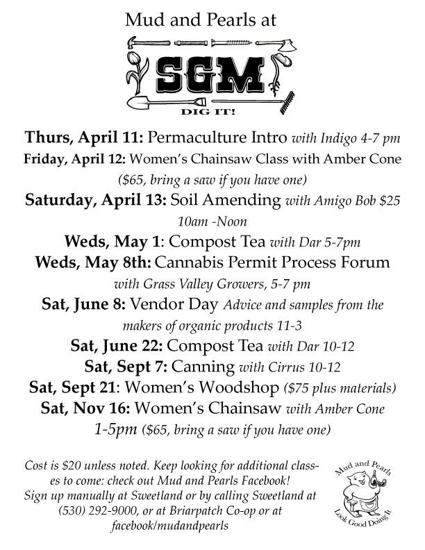 2019 Gardening Classes in North San Juan, CA