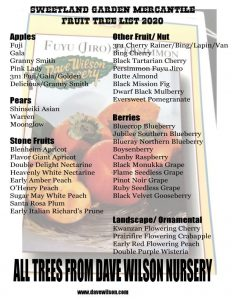 Bare-root Tree List